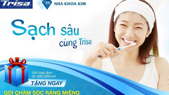 Cơ hội nhận gói Chăm sóc răng miệng 1 năm khi mua sản phẩm Trisa