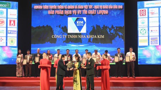 Chúc mừng Nha Khoa Kim đạt Top 100 Dịch vụ Chất lượng Hoàn hảo năm 2019