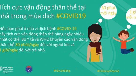 Bộ Y Tế Và WHO Gửi Đến Bạn Những Cách Năng Động Hơn, Khỏe Mạnh Hơn Để Đối Mặt Với COVID-19
