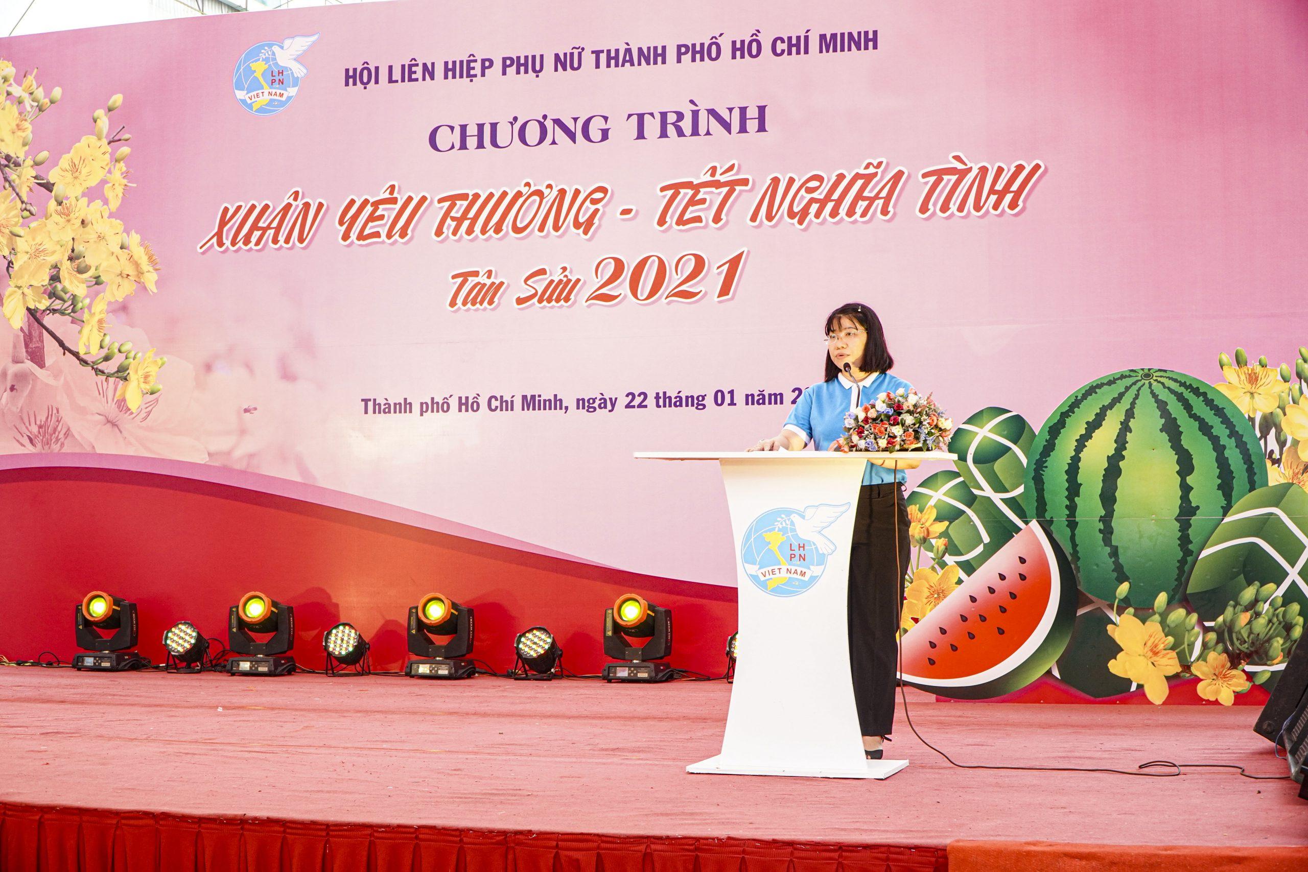 đại diện Liên hiệp phụ nữ phát biểu